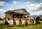 Audience watching Dylan Rysstad and the Rain Dogs, Midsummer Music Festival