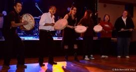 Khast'am Drummers, Block Party, Ramada Ballroom. January 24, 2014. Photo Credit: Bob Steventon.