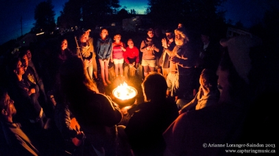 Doug transforming a campfire into a human size loop pedal system. This is by far one of my fondest memories of the whole summer. Midsummer Music Festival 2013.
