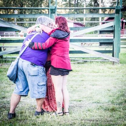 Midsummer Music Festival, 2013. Goodbye hug. See you next year (or next festival!).