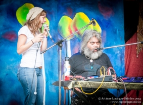 Sharing the stage with Samantha Scott. Robson Valley Music Festival 2013.