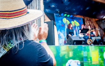 Watching Shara Gustafson and Linda McRae. Robson Valley Music Festival 2013.