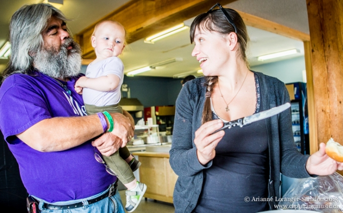With baby Willow and Leah Martin, part of the Joey Only Outlaw Band. Music on the Mountain 2013.