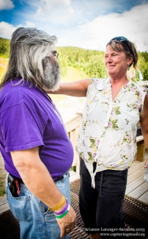 Doug Koyama and Pam Moul at Music on the Mountain 2013.