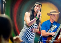 Tamara and George from Shaggy Manes, on the 4-H Barn Stage. Midsummer Music Festival, 2013.