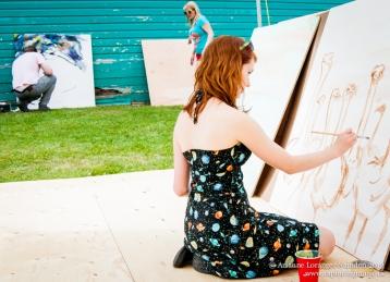 Mini Mural Project, ArtsWells, Wells, 2013