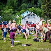 Yoga workshop, ArtsWells, 2012.